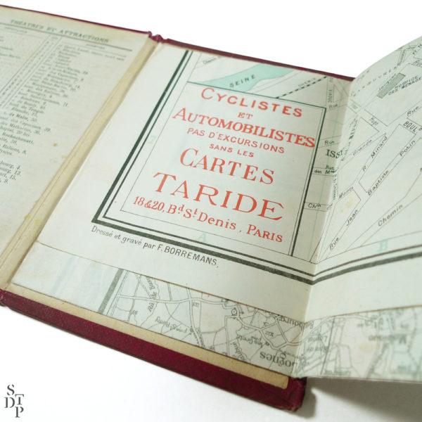 Ancien plan de Paris monumental Taride 1906 Souviens Toi De Paris vintage map vue 2