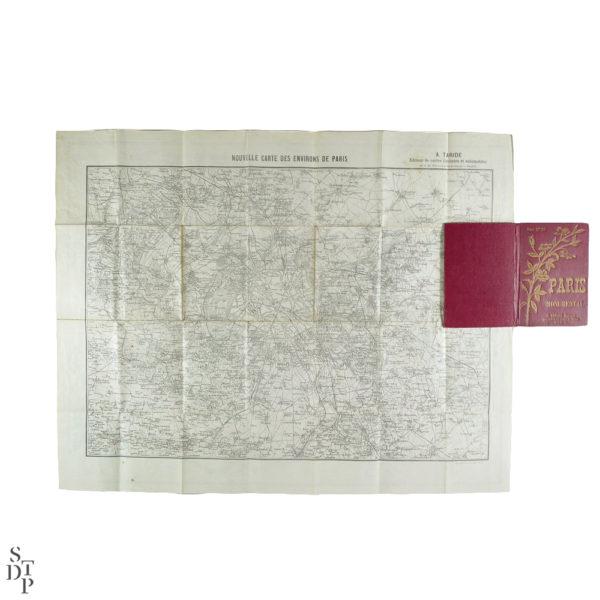 Ancien plan de Paris monumental Taride 1906 Souviens Toi De Paris vintage map vue 6